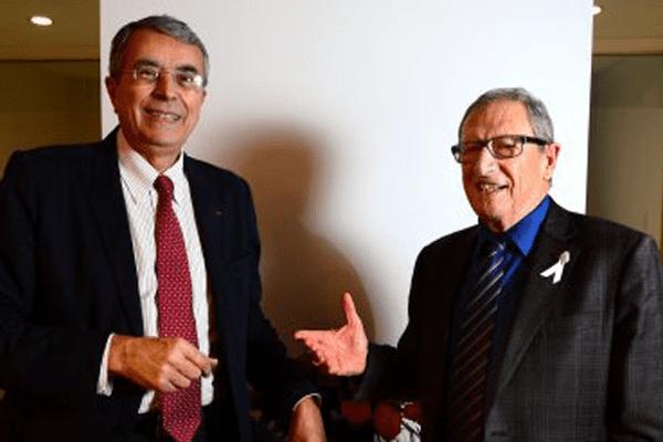 Jean-Jack Queyranne, président de la Région Rhône-Alpes et René Souchon, président de la région Auvergne