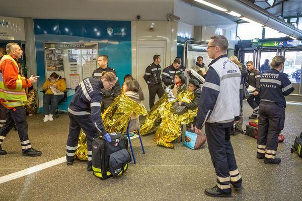 Les blessés ont été pris en charge par les marins-pompiers.