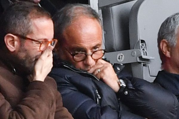 Marc Ingla (directeur général du LOSC) et Luis Campos au Stade Pierre-Mauroy le 17 février 2019.