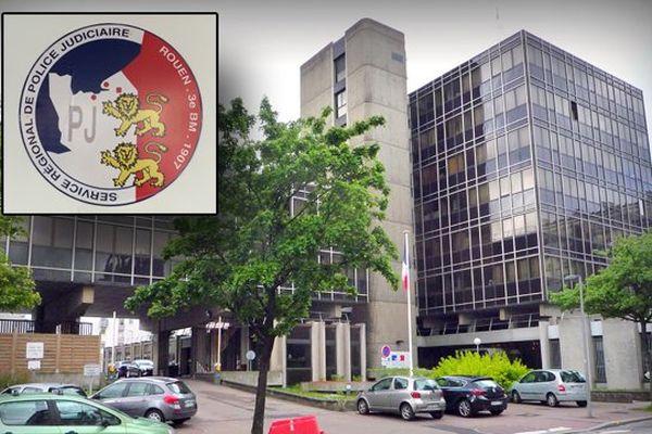 - L'hôtel de police de Rouen, siège du SRPJ de Normandie