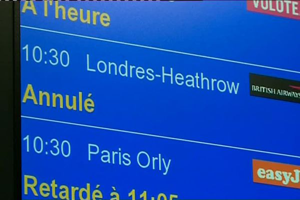 Tous les vols en provenance de l'Angleterre ont été annulés ce lundi 11 décembre à cause de la neige.