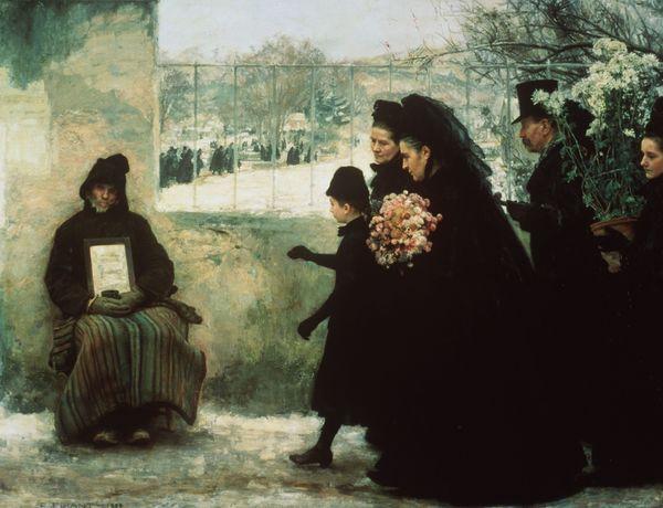 """""""La Toussaint"""", une peinture d'Emile Friant, présentée au Musée des Beaux-Arts de Nancy."""