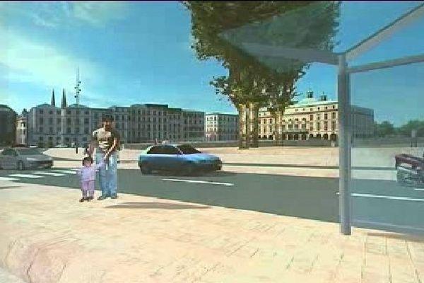 Une future station pour le bus Chrono à Bayonne