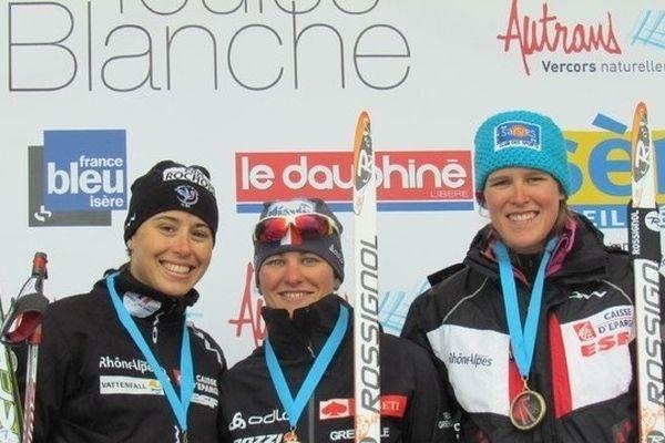 Manon Locatelli sur le podium du 25km dames