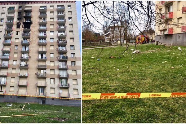 La zone, couverte de débris (verre notamment), a été sécurisée.