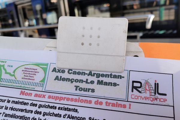 Les usagers signent les pétitions pour sauver les trains sur l'axe Caen-Tours.
