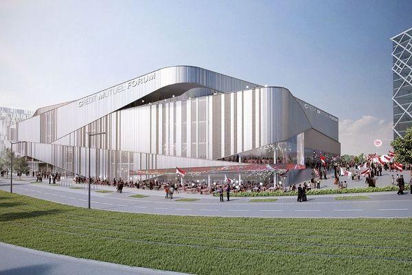 La future Arena de la SIG telle qu'elle a été esquissée par le cabinet d'architecte Chabanne en novembre 2018.