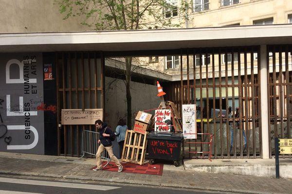 Les étudiants de la Faculté des Sciences humaines de Poitiers se sont mobilisés à plusieurs reprises contre la loi Vidal. Photo réalisée en avril 2018.