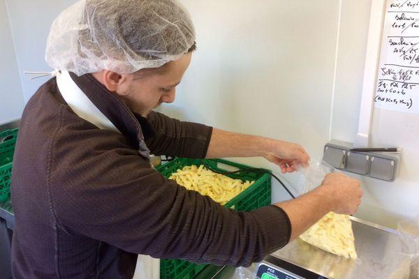 Sur le plateau de Sault, dans l'Aude un atelier de fabrication de frites a vu le jour - octobre 2018