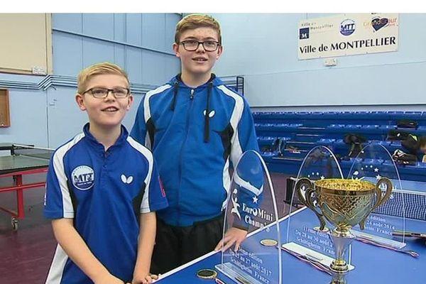 Les Montpelliérains Félix et Alexis Lebrun, déjà champions de tennis de table - Mars 2018