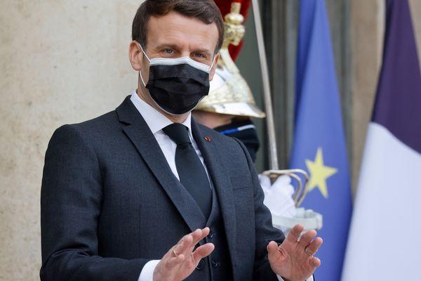 Emmanuel Macron, le 12 février 2021.