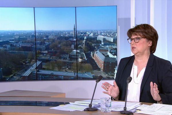 Martine Aubry, candidate (PS) à sa succession à la maire de Lille.