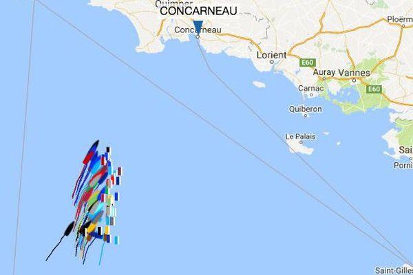 Les skippers de la Solitaire sont arrivés ce lundi matin au large des côtes bretonnes.