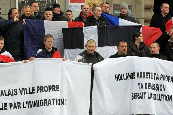 """Manifestation """"anti-migrants"""" le 11 janvier 2014 à Calais"""