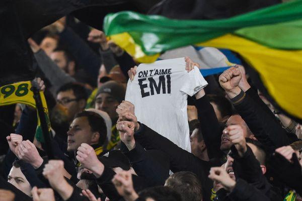 L'hommage des supporters nantais à Emiliano Sala le 5 février 2019.
