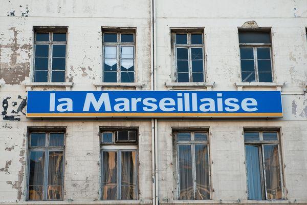 Facade des locaux du journal La Marseillaise place aux huiles à Marseille.