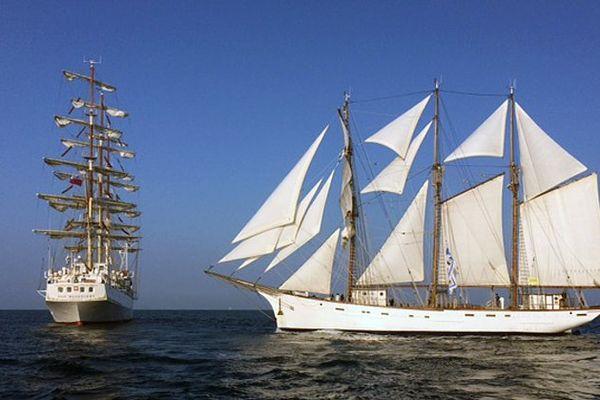 Les grands voiliers au large de Sète pour la grande armada d'Escale à Sète