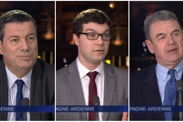 Marc Sebeyran (UDI), Dimitri Sydor (PS), Bruno Subtil (FN)