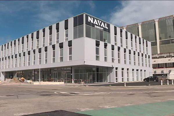 C'est dans ce bâtiment flambant neuf au cœur de l'arsenal de Cherbourg que s'imaginent les sous-marins du futur
