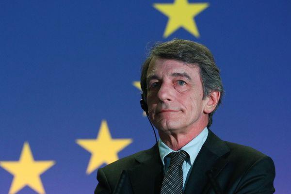 David Sassoli, président du Parlement européen lors d'une session à Bruxelles