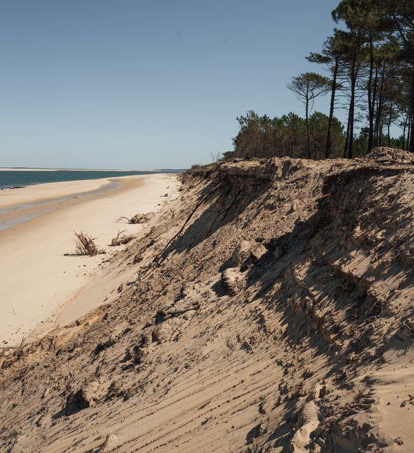 Plage de La Lagune à La Teste-de-Buch dans le Sud de la Gironde.