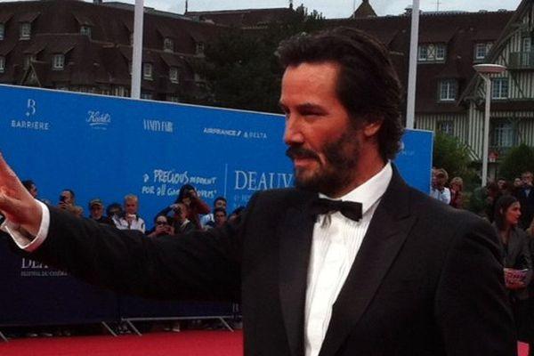 Keanu Reeves, aux faux airs de Neo, le héros de Matrix - Vendredi 4 septembre à Deauville
