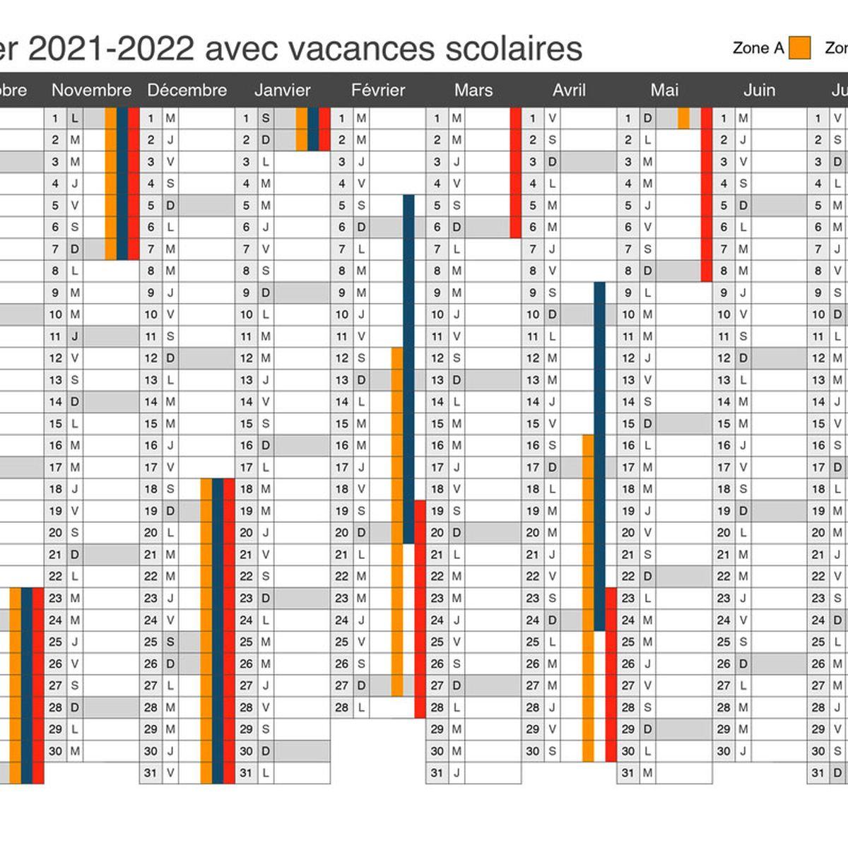 Calendrier Scolaire 2022_2022 Vacances scolaires : découvrez le calendrier officiel 2021 2022