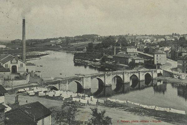 Les bords de Vienne à Limoges, autour du pont Saint-Etienne.