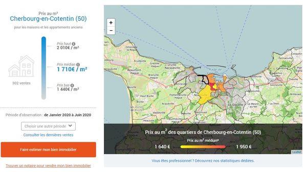 Sur le site des notaires de France, vous pouvez retrouver quartier par quartier, les prix de vente moyen au m2.