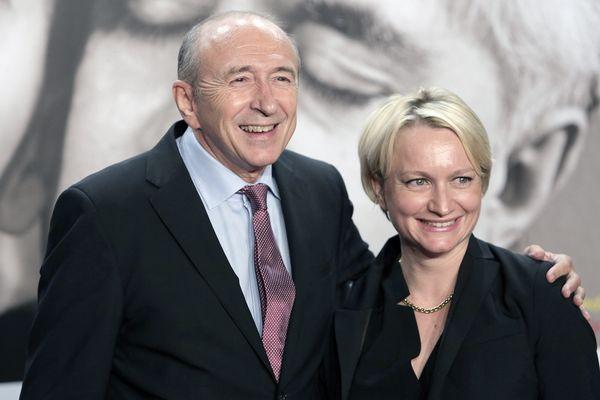 Gérard et Caroline Collomb, lors du festival Lumière à Lyon en octobre 2014