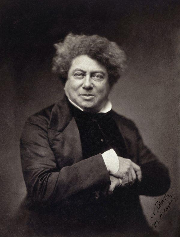 Portrait d'Alexandre Dumas par le photographe Nadar
