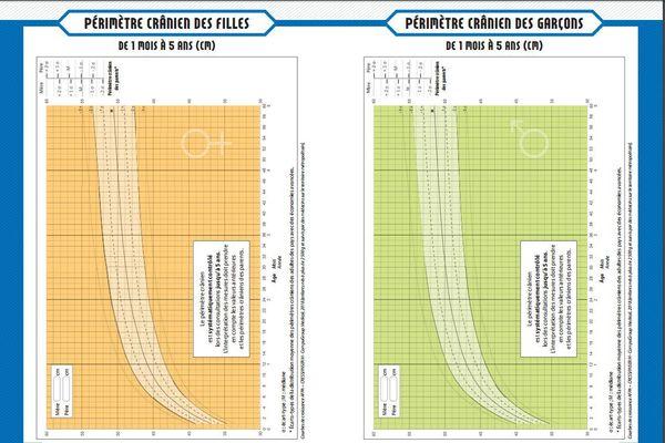Le nouveau carnet de santé intègre diverses courbes de croissance