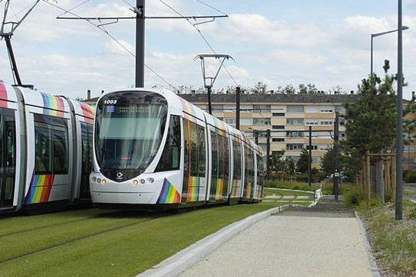 Le futur tramway de Caen sera similaire à celui de la ville d'Angers (archives)