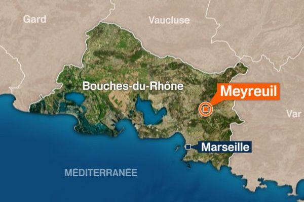 Un homme a été retrouvé dimanche soir tué par balle, sur le siège conducteur d'une voiture à Meyreuil sur un petit chemin.