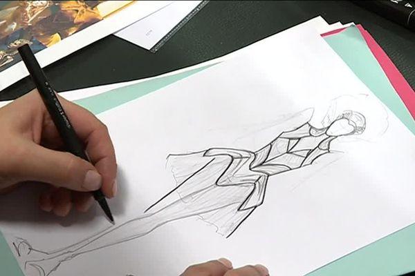 Un dessin au crayon, à l'ancienne.