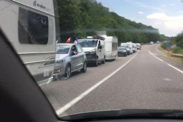 Les caravanes ont pris le chemin de Messein (54)