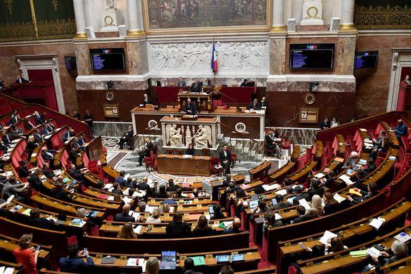 L'Assemblée Nationale lors du débat sur l'immigration.