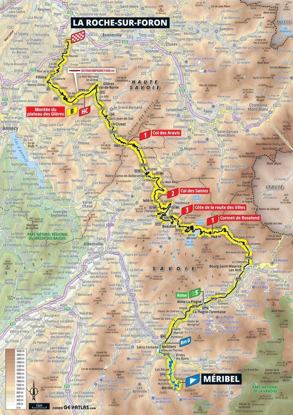 Le parcours de la 18e étape du Tour de France 2020