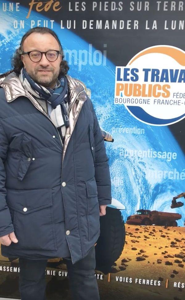 L'entrepreneur et président de la FRTP de BFC, Vincent Martin