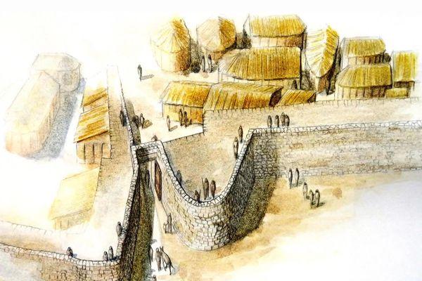 Reconstitution du village Gaulois de Saint-Blaise.