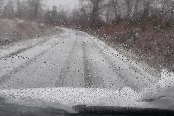 Neige à Oradour-sur-Glane le 22.01.2019