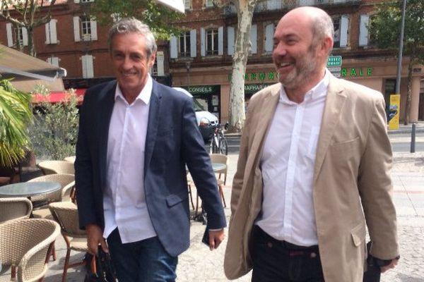 Philippe Saurel et Pierre Verdier ce vendredi midi à Albi (81)