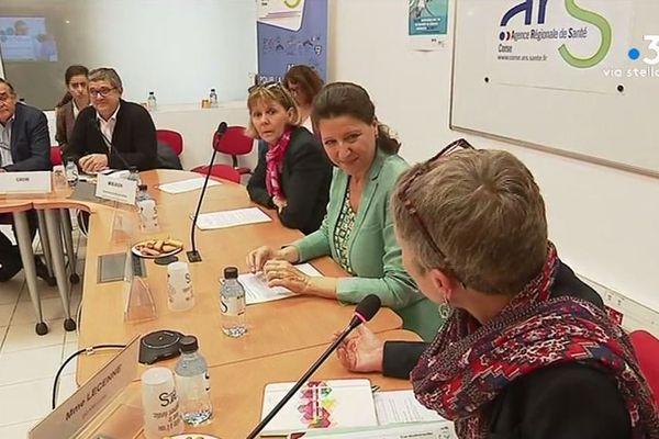 Agnès Buzyn, ministre de la Santé, a réuni, à Ajaccio, tous les professionnels du monde médical pour une table ronde autour de la prochaine réforme « Ma santé 2022 ».