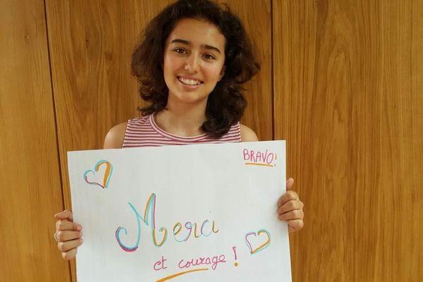 Naïs, élève de 5ème du collège Monod à Clarensac (Gard)