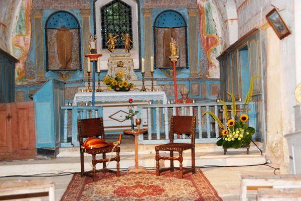 La chapelle Saint-Ambroise avant d'être vandalisée.