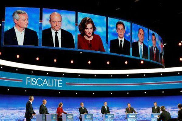 Les sept candidats de la primaire de la droite et du centre lors du débat télévisé du 13 octobre.