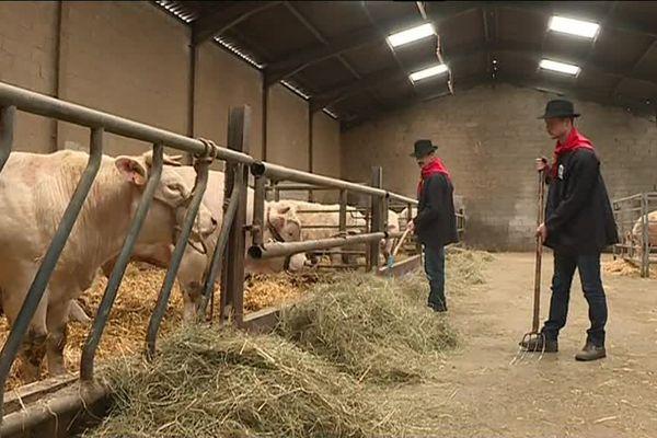 Dans la ferme de Romain et Maurice Bourdelin, éleveurs de fin gras au Béage, en Ardèche (2018)