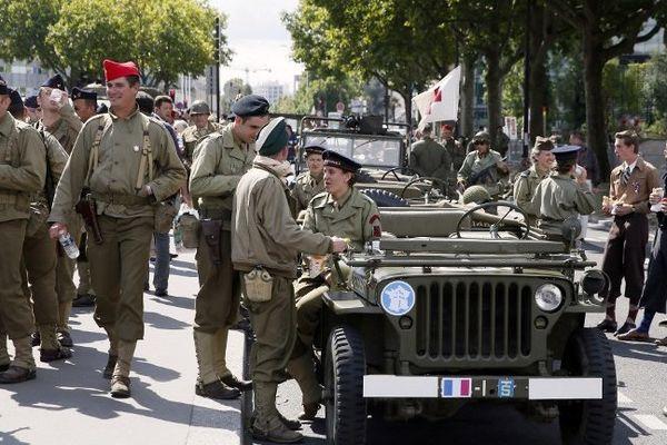 Cérémonie commémorant le 70e anniversaire de la Libération de Paris.