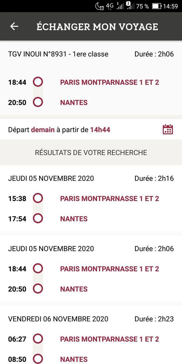 La SNCF propose des trains en remplacement du vôtre annulé, mais attention au dernier départ...