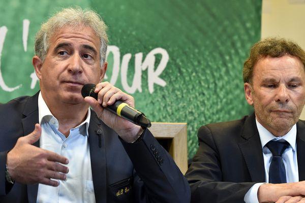 Bernard Caïazzo (à gauche), espère un retour du championnat, au mieux fin août prochain, sinon septembre.